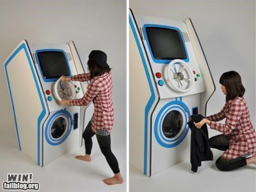 arcade,arcade machine,chores,DIY,game,laundry,modification,nerdagsm