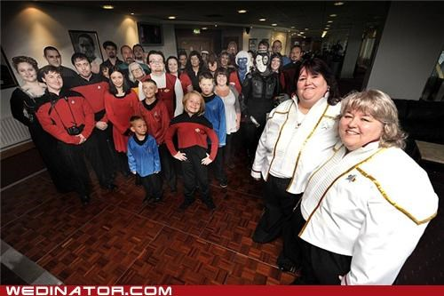 cosplay,funny wedding photos,geek,Star Trek