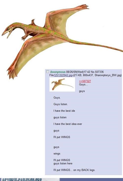 4chan bad idea crunk critters dinosaur stoned wings