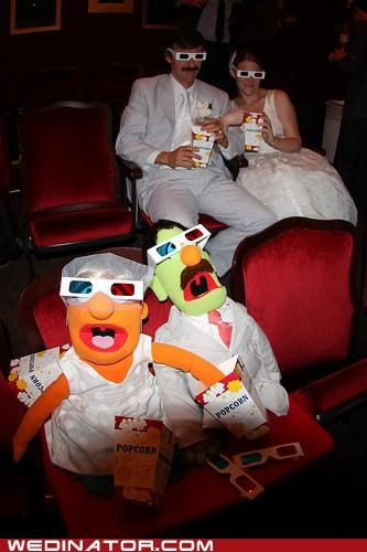 bride,funny wedding photos,groom,muppets
