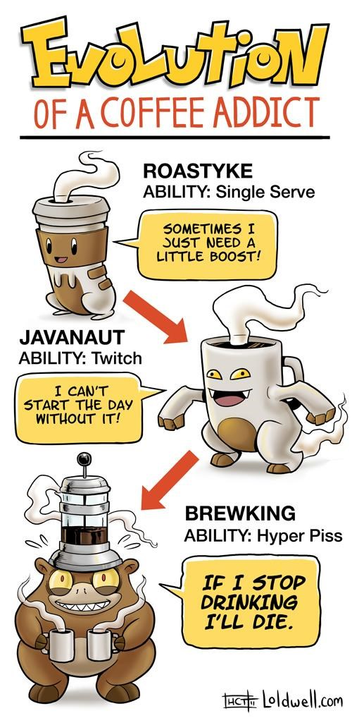 brewking,caldwell tanner,coffee,comics,javanaut,Loldwell,Pokémon,roastyke,video games,webcomics