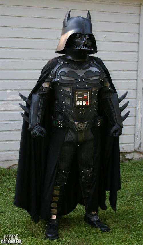 batman,cosplay,costume,custom,darth vader,DIY,nerdgasm,star wars