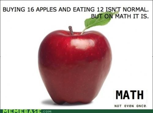 16 apples eating math normal Not Even Once - 5231122944