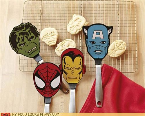 kitchen spatulas super heroes utensil