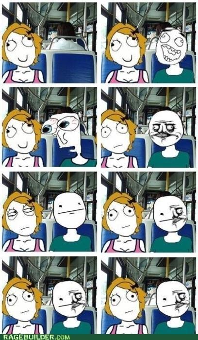 bus,me gusta,poker face,Rage Comics