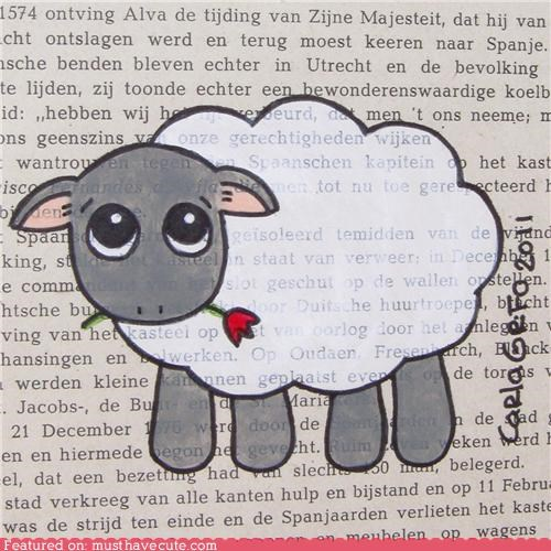 art Flower lamb painting paper - 5232566272