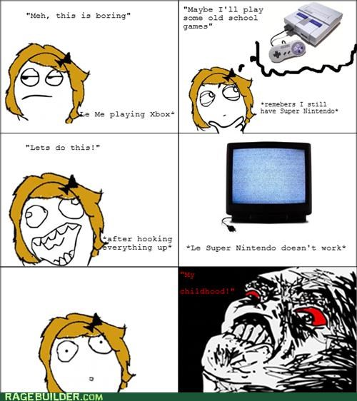 childhood,nintendo,Rage Comics,video games