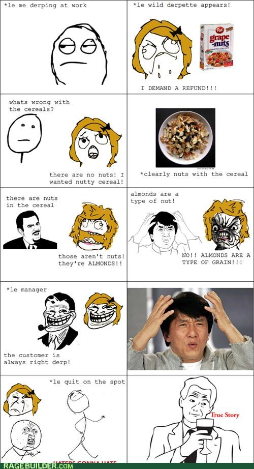 cereal,customer,grape nuts,Rage Comics
