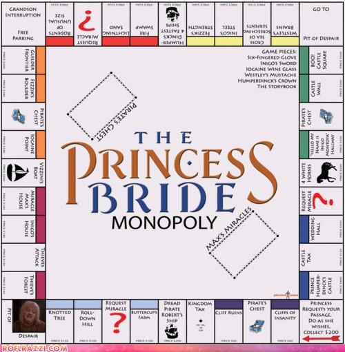cool game Hall of Fame monopoly Movie the princess bride - 5233558784