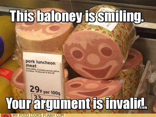 baloney case clown deli face freaky meat smile - 5233577728