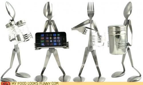 flatware forks sculpture silverware spoons - 5233584384