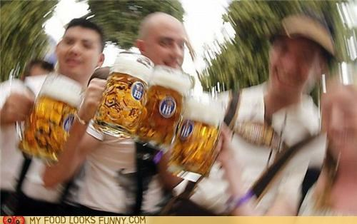beer drunk Germany lederhosen spins steins