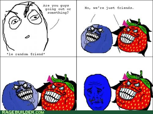 dating i lied Rage Comics Sad strawberry guy