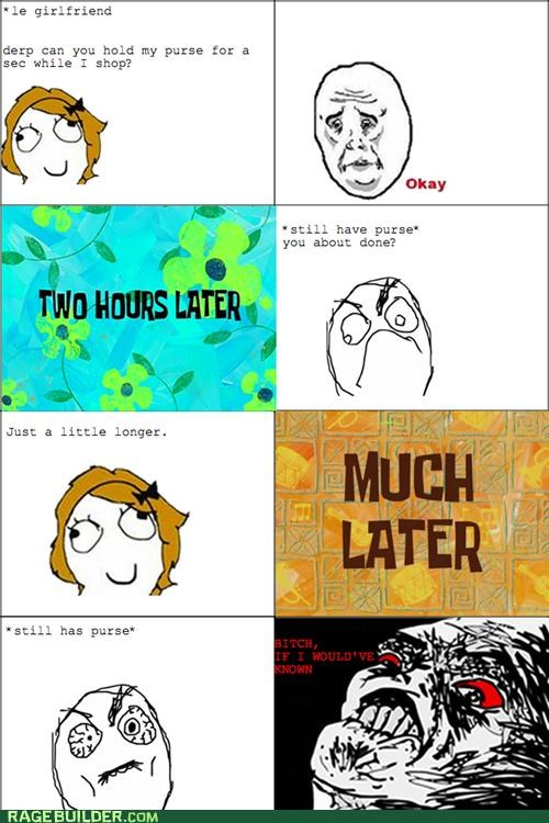 purse Rage Comics shopping women