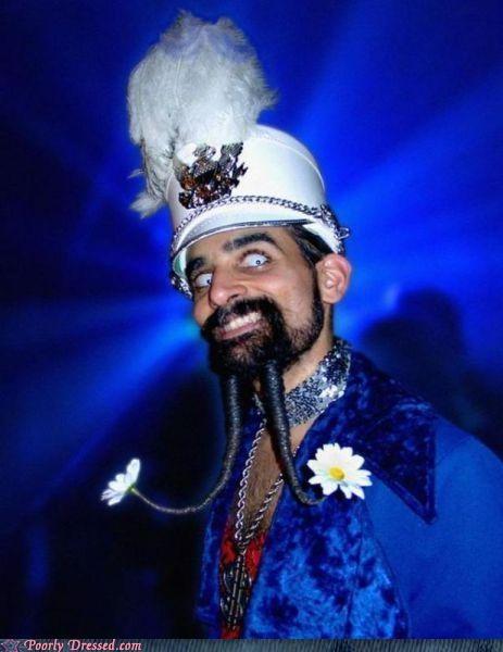 beard Bling hat marching band parade - 5233975040