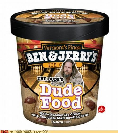 ben-and-jerrys,bowling,fake,ice cream,malt balls,the big lebowski,the dude,white russian
