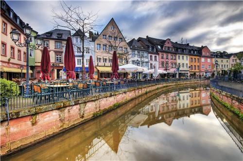 architecture,city,colorful,europe,Germany,getaways,rhine,river,saarburg