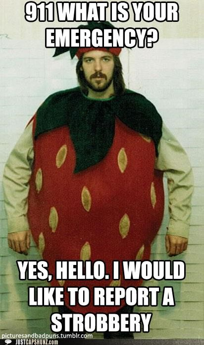 costume emergency jail puns robbery strawberries under arrest - 5234210816