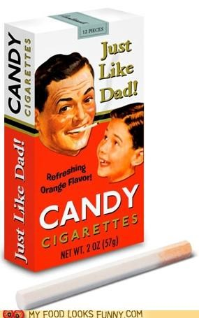 candy,cigarettes,dad,fake,responsible,smoking