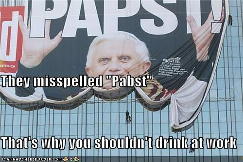 beer,political pictures,Pope Benedict XVI