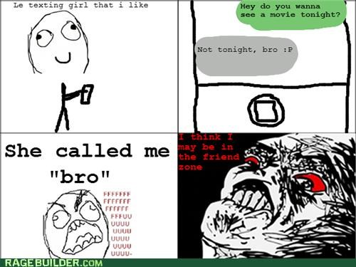 bro friend zone Rage Comics relationship - 5234678784