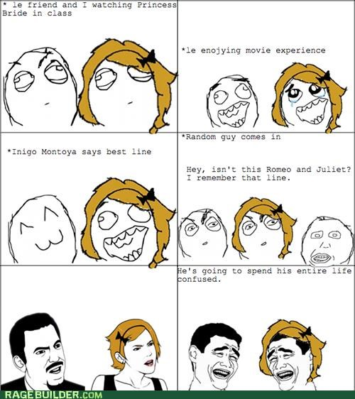 princess bride,Rage Comics,romeo and juliet,trolling