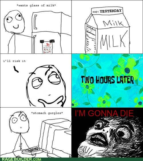 Death,expired,milk,Rage Comics