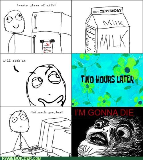 Death expired milk Rage Comics - 5234985728