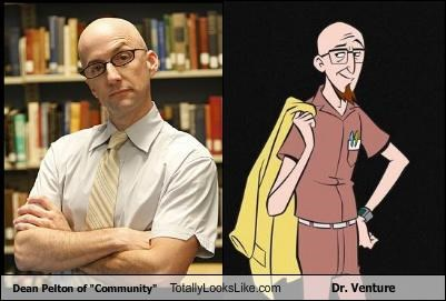 actor actors cartoons community deal pelton dr-venture glasses Hall of Fame scientist Venture Bros