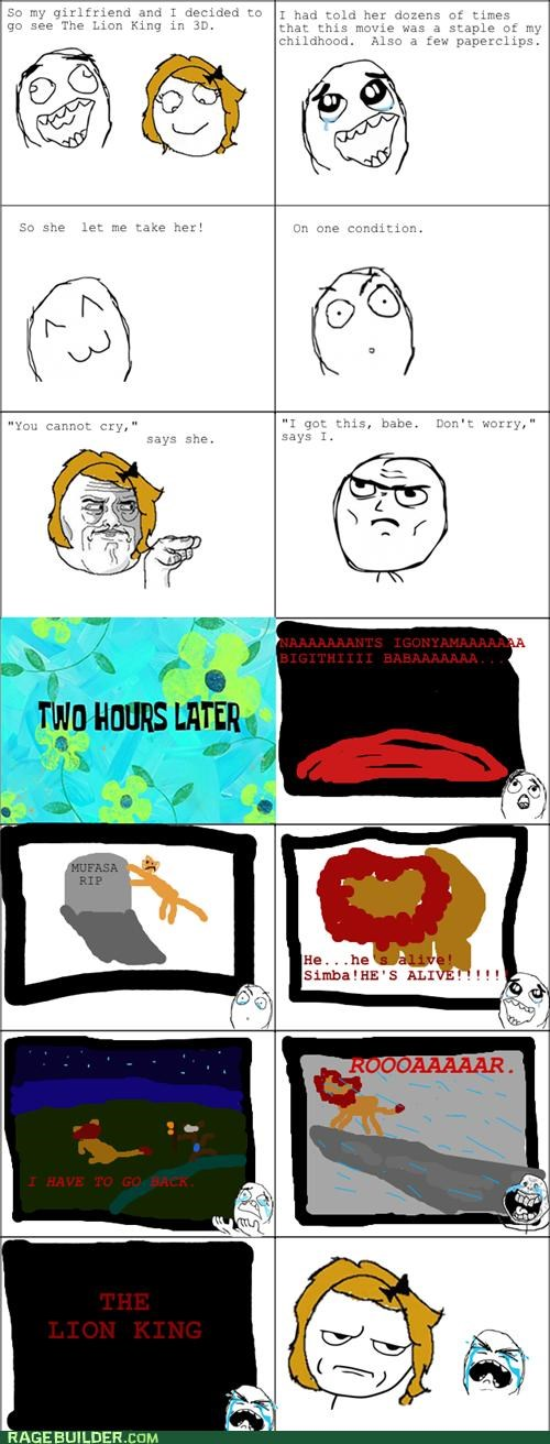 cry lion king Movie Rage Comics - 5235457536