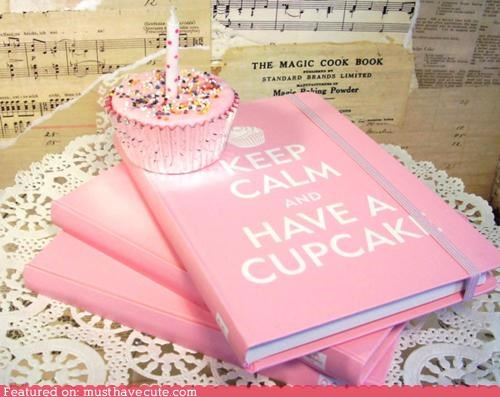 best of the week cupcake journal notebook pink - 5235543040