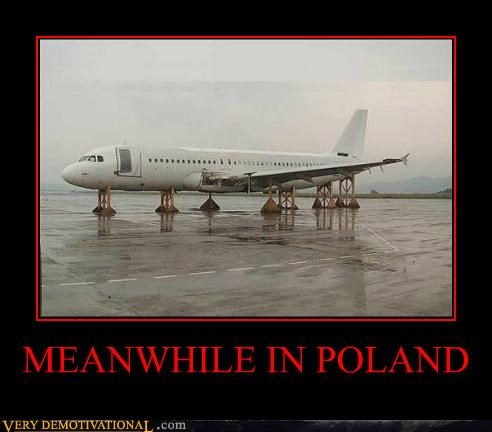 air plane hilarious no wheels poland - 5235852800