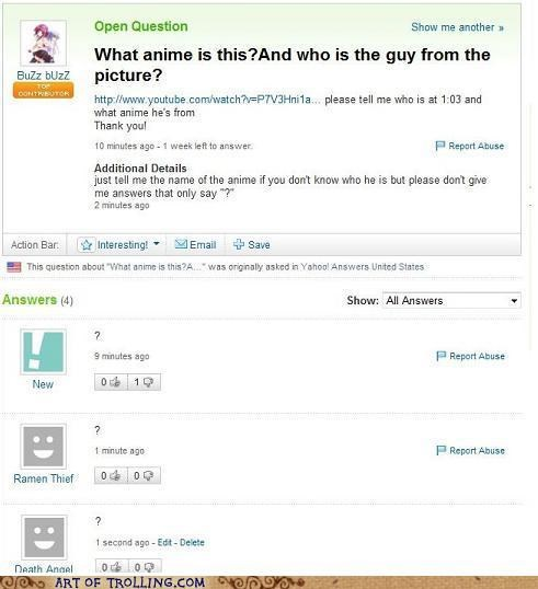 anime annoying question mark Yahoo Answer Fails - 5236037888