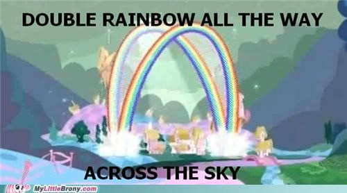 across the sky double rainbow meme what does it mean - 5236736768
