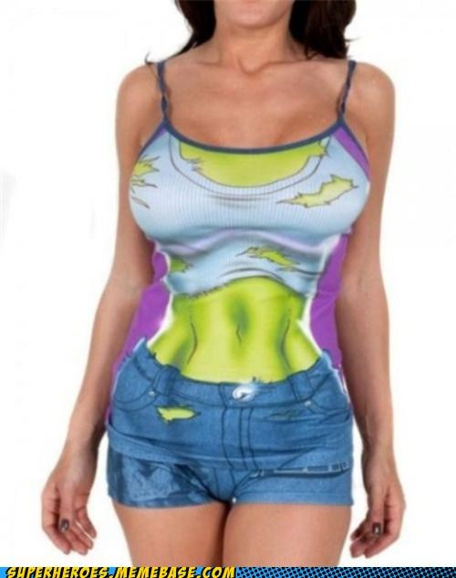 Random Heroics Sexy Ladies she hulk tank top wtf - 5236942848