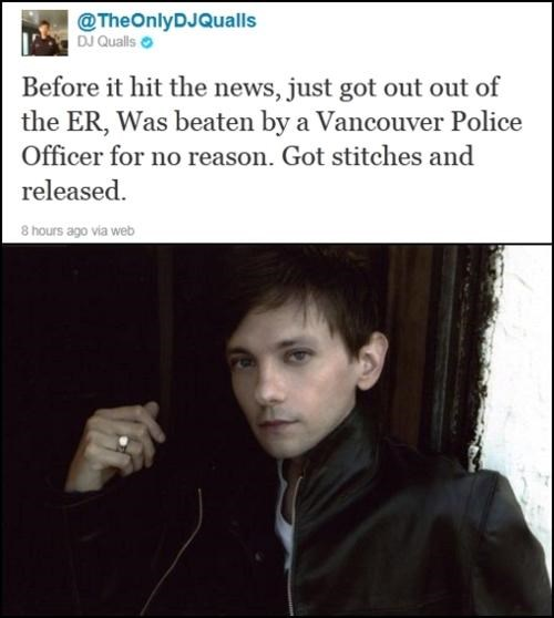 Celebrities Like Us DJ Qualls Police Brutality vancouver