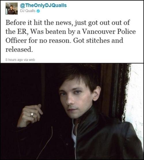 Celebrities Like Us DJ Qualls Police Brutality vancouver - 5237141248