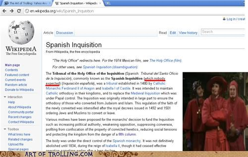 monty python Spanish Inquisition wikipedia - 5237156608