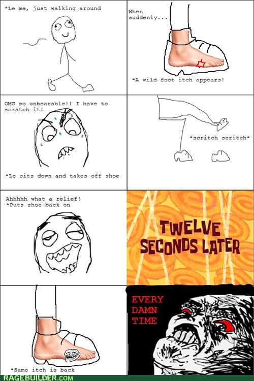 annoying foot itch Rage Comics - 5238105088