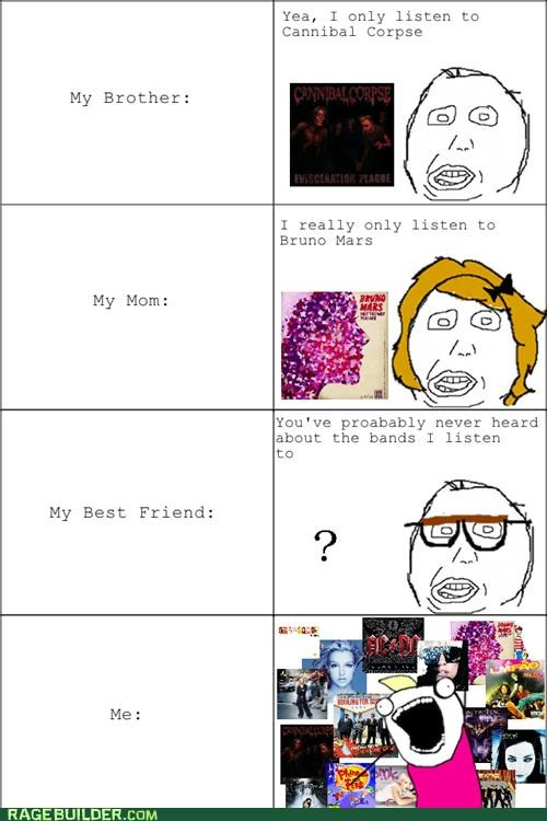 all the things,hipster,Music,Rage Comics