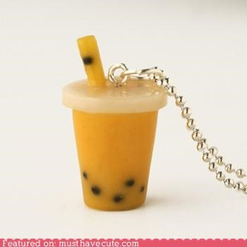 accessories bubble tea Jewelry necklace pendant scented - 5238226944