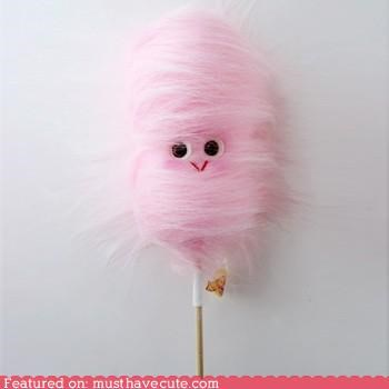 cotton candy face furry pink Plush toy - 5238228736
