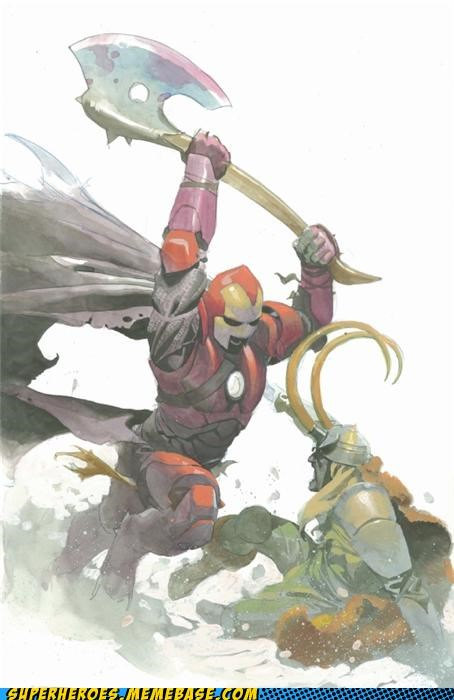 Awesome Art iron man loki medieval Thor - 5238286848