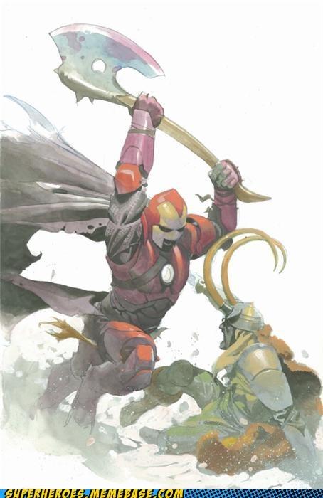 Awesome Art iron man loki medieval Thor - 5238286848