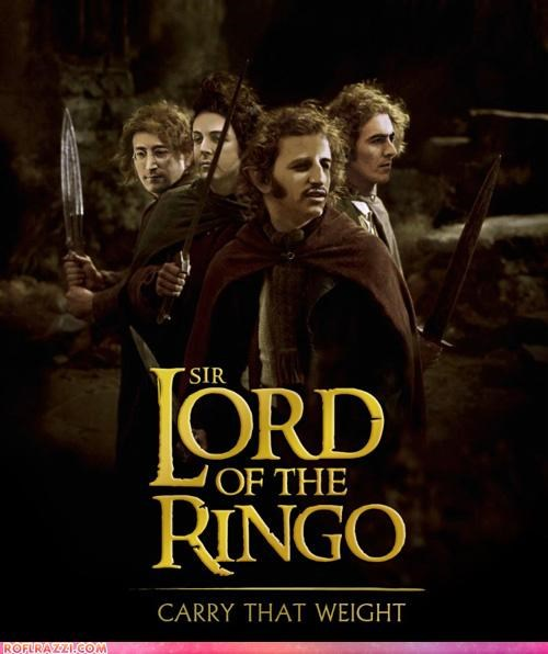funny Lord of the Rings Movie Music sci fi shoop the Beatles - 5238521600