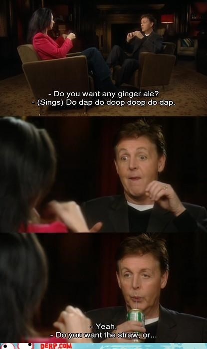 beatles,Celebriderp,do dap,ginger ale,paul mccartney