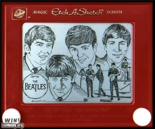 art,beatles,Etch A Sketch,Music,pop culture,toy