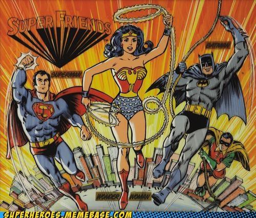 Awesome Art batman justice league robin super friends superman wonder woman - 5238747904