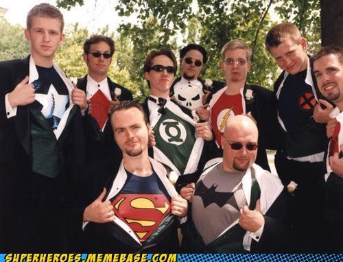 Groomsmen Random Heroics t shirts wedding - 5238804736