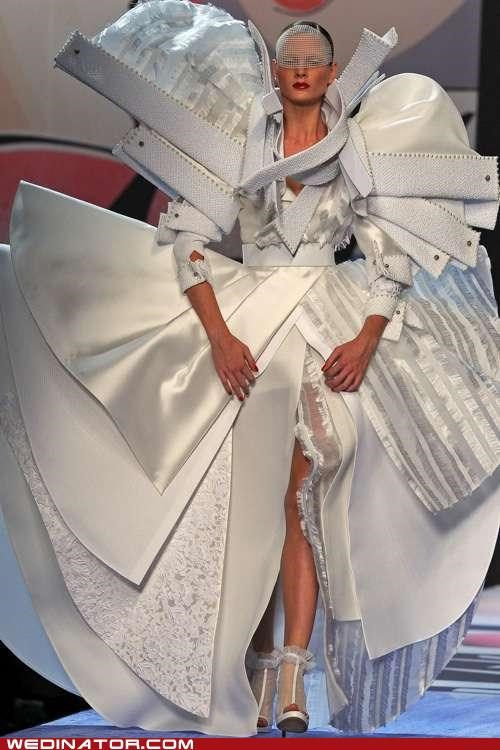 bridal couture bridal fashion funny wedding photos pretty or now viktor and rolf wedding dress - 5239007488